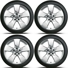 "SET OF FOUR GENUINE AUDI TT 5 SPOKE 17"" ALLOY WHEELS + DUNLOP SP WINTER TYRES"