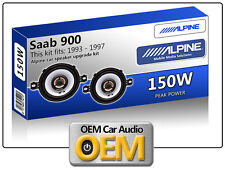 "Saab 900 Frontal Dash Altavoces Alpine de 3,5 "" 87cm altavoz para automóvil Kit 150w Max Power"