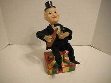 Vintage Cragstan Battery Operated Playboy Bartender Drinking Tin Toy Japan Works