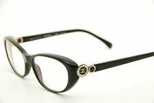 New Authentic Chanel 3203 c.622 Black 53mm Eyeglasses Frames RX Italy w/Serial #