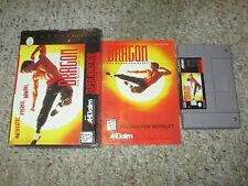 Dragon: The Bruce Lee Story (Super Nintendo SNES, 1995) Complete FAIR