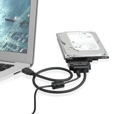 """USB to SATA 22pin Data Power Cable Adapter For  2.5 """" SSD 3.5""""/ 2.5"""" SATA HDD"""