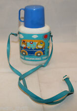 Vintage Sanrio Japan Hard Working Trio Plastic Water Bottle Cup Strap AS-IS Rare