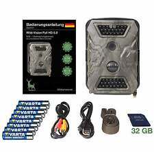 Wildkamera/Fotofalle: Wild-Vision Full HD 5.0 - 32 GB- Super Pack mit Black LEDs
