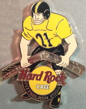 Hard Rock Cafe PITTSBURGH 2004 Steelers FOOTBALL Player #21 Steel PIN HRC #24291