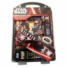STAR WARS KYLO REN STATIONERY PACK- MASSIVE! 14 ITEMS INCLUDING PENCIL TIN.