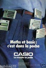 Publicité advertising 1984 Les calculatrices Casio