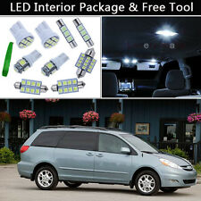 13PCS White LED Interior Car Lights Package kit Fit 2004-2010 Toyota Sienna J1