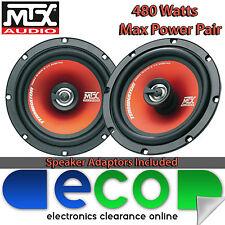 """SAK-1004 Peugeot 306 1993 - 2001 MTX 6.5"""" 480 Watts 2 Way Rear Door Speakers"""