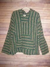 Baja Joe Mexican Drug Rug Hippie Boho Pullover Hoodie Recycled Jacket Sz XL