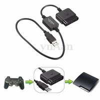 USB Game Controller Converter Adapter for Playstation PS2 to PS3 Gaming Cable
