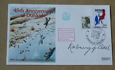 DUNKIRK 45TH ANNIVERSARY 1985 COVER SIGNED BY LORD KABERRY OF ADEL