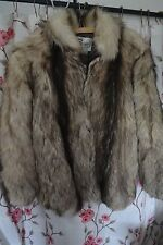 vintage timber wolf fur coat sz xl