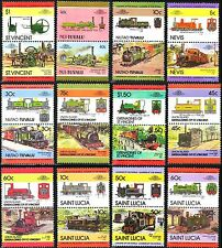24 x Railway Trains of Wales Stamps (Leaders of the World Locomotive Collection)