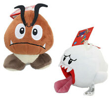 Super Mario Brothers Goomba & Boo Ghost Figure Plush Doll Toy 2pcs New /wtag