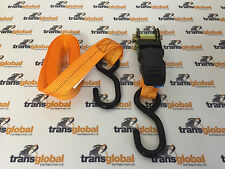 Rubber Handled Cargo Lash Securing Ratchet Strap 4.5m x 25mm 250kg 800kg Max