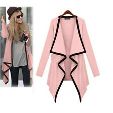 UK 8-20 Women Irregular Long Sleeve Blazer Cardigan Coat Jacket Top Blouse Hot