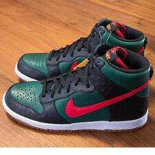 NIKE DUNK HI SUPREME SPARK LE 375378-361 SZ 10 BLACK GREEN RED CLARK KENT EAST