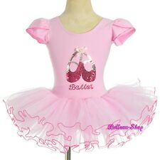 Pink Sequined Ballet Tutu Dance Costume Fairy Fancy Dress Leotard Sz 4T-5 BA060