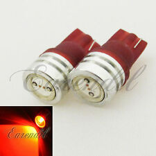 T10 Red LED High Power Wedge Xenon Bulb #Ju6 168 194 2825 175 W5W Tail Light