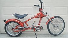 Schwinn Stingray Bike OCC Chopper 3 Speed Orange/Black 20""