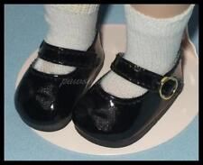 """BLACK Patent Mary Jane Doll SHOES for 10"""" PATSY Ann Estelle 14"""" Madame Alexander"""