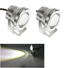 2x 3 inch 10W LED HeadLight Daytime Running Fog Spot Light Motorcycle ATV Silver