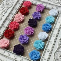 6x Felt Rose Flowers. Red Blue Pink Purple. Floral, Card Making, Craft Scrapbook