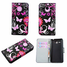 New Book Flip Leather Wallet Cover Case Stand For Huawei Apple Samsung Phones