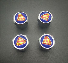 4PCS  Superman Tire Wheel Rims Stem Air Valve Caps Tyre Cover Car Truck Bike