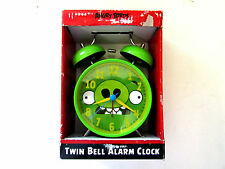 Angry Birds Twin Bell Alarm Clock - Green