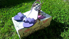 PRADA Ladies Summer Leather Patent Purple Sandals Shoes UK 7 EU 40 US 9