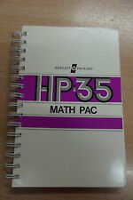 rare manual Math pac calculator Hewlett Packard HP-35 manuel calculatrice