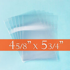 "300 Resealable Cello Bags 4 5/8 x 5 3/4"" (A2 Cards+ Env); Self Adhesive on BODY"