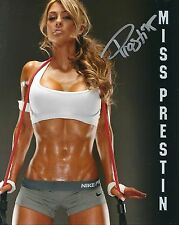 Miss Prestin Fitness Model Signed 8x10 Photo #1a American Curves Inside Fitness