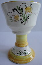 Stangl Pottery Tall Goblet in the Yellow Tulip Pattern Vintage 1950's