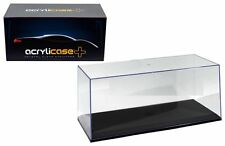 ACRYLICASE CLEAR DISPLAY SHOW CASE FOR 1/18 Diecast Car BLACK BASE MJ14003