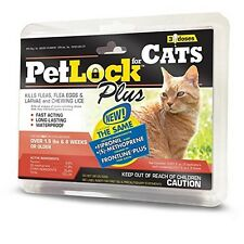 PetLock Plus for Cats over 1.5lbs - 3 Month Supply Flea Treatment