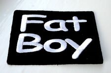 P1 Fat Boy Biker Motorcycle Iron on Patch