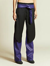 PEDRO LOURENCO $5046 purple leather AW12 runway pants Lourenço trousers 38/6 NEW
