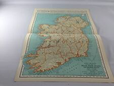 Vintage 1934 Rand McNally Map~ Irish Free State/Northern Ireland ~ Ships FREE!