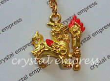 Feng Shui - 2015 Small Pi Yao with Flaming Sword Keychain