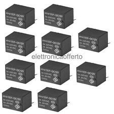 10 Pezzi DC12V Mini Relè Elettromagnetici 6 pin, 1Ω