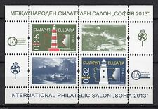 "BULGARIA 2013 PHILATELIC SALON ""Sofia 2013"", LIGHTHOUSES  MINI SHEET MNH  RRRRRR"