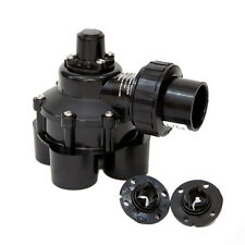 Black Plastic 11/4-in Inlet Female Manual Irrigation Underground Sprinkler Valve