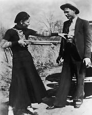 New 11x14 Photo: Bonnie Parker and Clyde Barrow, Depression-Era Gangster Outlaws