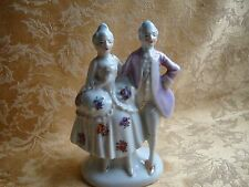 Beautiful Porcelain Victorian Couple Figurine, Made in Japan 1940-50s