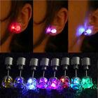 1PC Women Men Hot Sale Fashion Jewelry Light Up Crown Crystal Drop LED Earring