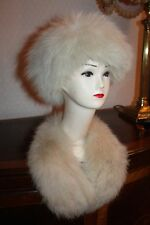 VTG REAL ARCTIC FOX FUR HAT WITH COLLAR V.G.C. NOT MINK / SABLE JACKET