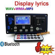 Bluetooth Receiver LCD dc 12v MP3 Player WMA WAV decoder audio board FM Radio